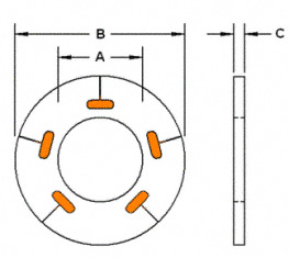 Load Indicating Washer Drawing