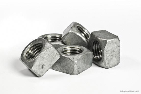 Bolt And Washer >> Galvanized Nuts Tapped Oversize - Portland Bolt