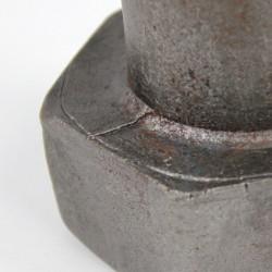 Die seam on a hex head bolt