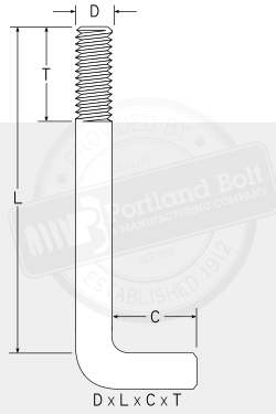 90° Anchor Bolt - Portland Bolt