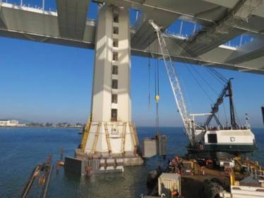 Bay Bridge Fender Installation