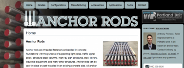 anchorrods.com microsite