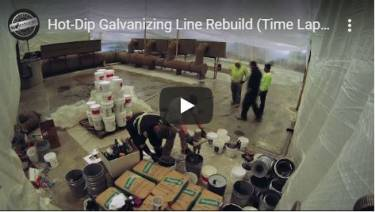 Time Lapse Video of Galvanizing Line Rebuild